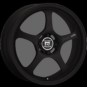 15x7 Black Wheels Rims Motegi Traklite 5x100