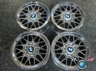Four 97 03 BMW 525 528 530 540 Factory 16 Chrome Wheels Rims 59250