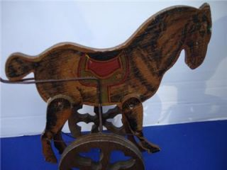 Antique Mechanical Childs Toy Horse