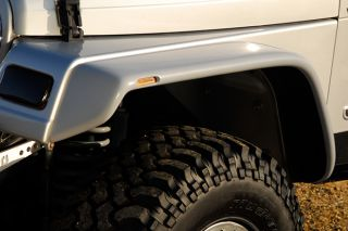 97 06 Jeep Wrangler Driver Side Fender Extension Flat Panel Style