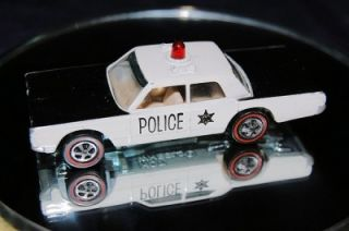1969 Mattel Red Line Hot Wheels Red Dome Police Cruiser Red 6269