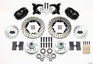 Wilwood Disc Brake Kit Front 65 72 Dodge Dart 10 Drum Black Calipers