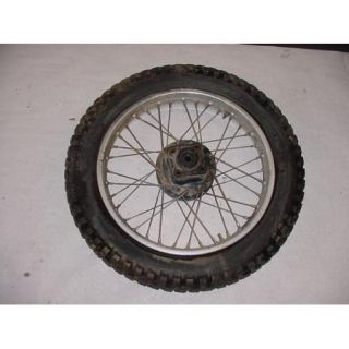 81 Honda XL185 XL 185 s Rear Tire Wheel Spokes Rim