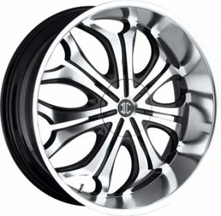 2CRAVE No8 22x9 5 5x114 3 5x127 ET18 Black Machined Chrome Lip Wheel 1