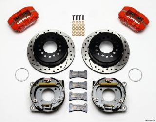 Wilwood Disc Brake Kit 67 69 Chevy Camaro 11 Red Drill