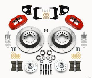 Wilwood Disc Brake Kit 70 72 CDP B E Body w Drums 13 12 Rotors Red