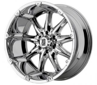 22 inch XD Badlands Chrome Wheels 8x170 Ford F250 F350