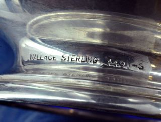 Sterling Silver Blue Glass Bowls by Wallace