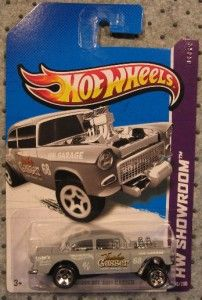 Hot Wheels 2013 HW Showroom 1955 55 Chevrolet Chevy Bel Air Gasser B