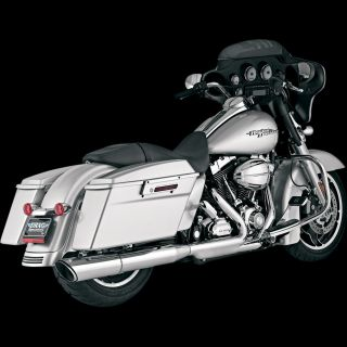 VANCE & HINES Twin Slash Slip on 4.5 inch Muffler for 2010 Harley FLHX
