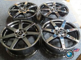2012 Mercedes C250 C300 C350 Factory AMG 18 Wheels Rims Blk PVD