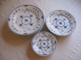 Royal Copenhagen Blue Fluted Half Lace China Set Full Place Settings