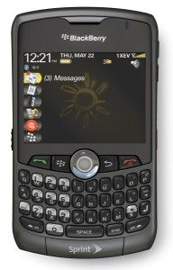 Rim Blackberry Curve 8330 Sprint Cell Phone Grey Full Kit Included