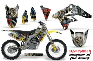 AMR Racing MX Number Plate Background Wrap Suzuki RMZ 250 07 09 Iron