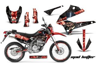 AMR Racing Motocross Number Plate Decal D Tracker Kawasaki KLX 250 08
