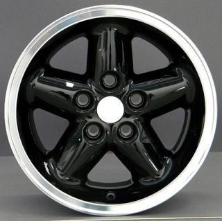 15 x8 Black Wrangler Style Rims Fit Jeep