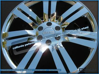 Sierra 24 inch Chrome Wheels Rims New Set of 4 2012 2011 2010