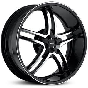 20 inch Staggered Boss 340 Black Trim Wheel Rim 5x4 5 Legend MDX