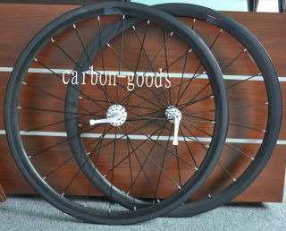 Finish Carbon Fiber Road Bike 38mm Wheels Wheelset in Clincher