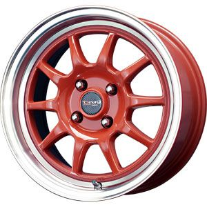 New 15X7 4 100 Drag Dr16 Red Machined Wheel/Rim
