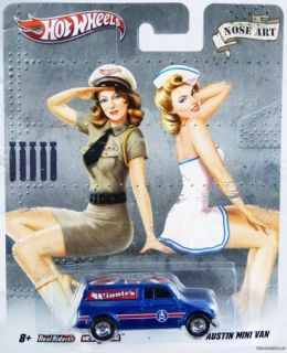 HOT WHEELS PIN UP NOSE ART 67 AUSTIN MINI VAN #W6636 NRFP MINT COND