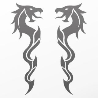 Tribal tattoo design Decal Sticker Dragon Art WRSZE