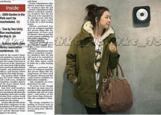 Thicken Fleece Warm Winter Coat Zip Hooded Parka Womens Overcoat Long