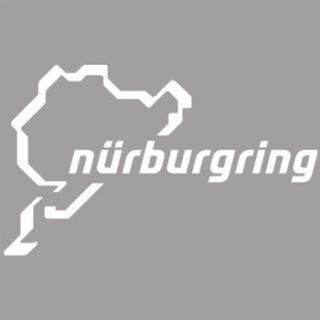 White Nurburgring Track Car Exterior Decal Sticker 2