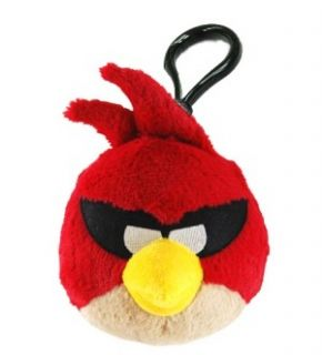 Angry Birds Space Backpack Plush Clip Super Red Bird *New*