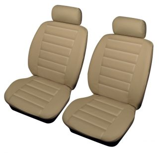 Leather Look Car Seat Covers Black PEUGEOT 206CC 00 06 Front Pair