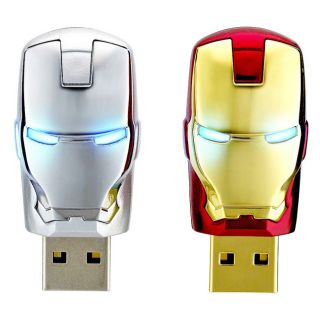 AVENGERS IRONMAN MASK 8GB USB FLASH DRIVER 2MODELS SET NEW INFO THINK