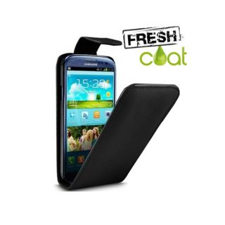 Fresh Coat Samsung Galaxy S3 Flip Case Black Soft PU Leather w