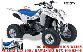 AMR DEKOR KIT SUZUKI LTZ 400 TOXICITY DECALS, DECOR B