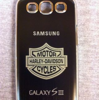 Harley Davidson Laser Engraved metal case for Samsung Galaxy S3