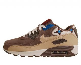 Nike Air Max 90 Iron Stone Sail Blue Aztec Pack 2011 Mens Casual Shoes