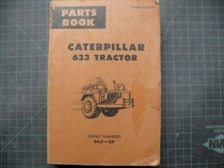 CAT Caterpillar 633 Scraper Parts Manual Book Catalog