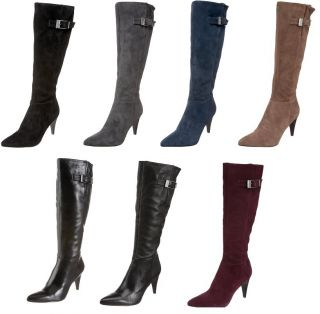 Calvin Klein Womens Knee High Boots E7366 Logan Leather Or Suede 3