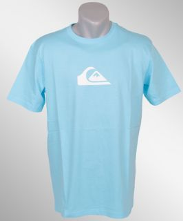 Quiksilver Mountain Waves Tee T Shirt hellblau Logo NEU