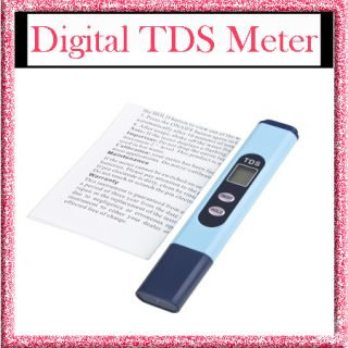 Digital TDS 0 999 Meter Tester Water Quality ppm Purity Filter With