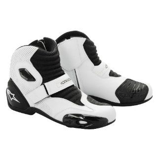 NEW ALPINESTARS SMX 1 ROAD RIDING BOOTS/SHOES, WHITE/BLACK, EUR 40/US