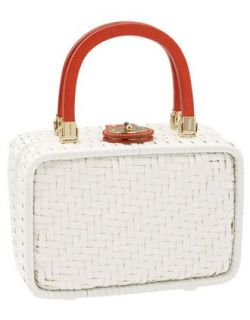 Kate Spade Straw Miramar Alison Basket Satchel Bag Tote
