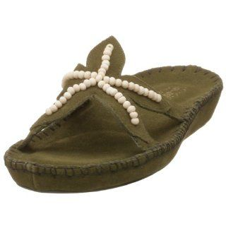 Deer Stags Womens Starfish Sandal,Olive,8 M Shoes