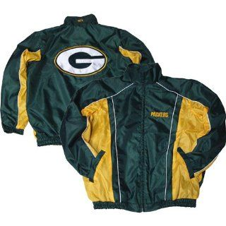 Green Bay Packers Mens Zip Front Wind Breaker Jacket
