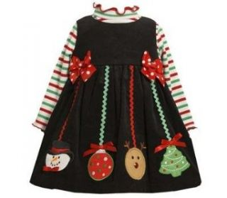 Bonnie Jean Baby Girls Christmas Ornament Corduroy