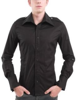 Doublju Mens Casual Bead Snap Shirts Clothing
