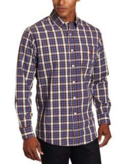 U.S. Polo Assn. Mens Yarn Dyed Checkered Shirt Clothing