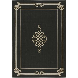 Poolside Black/ Cream Indoor Outdoor Rug (8 x 112)