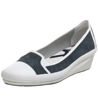 AK Anne Klein Womens Kaia Flat,Blue/White,6 M US Shoes