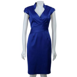 Jessica Howard Womens Mandarin Collar Dress