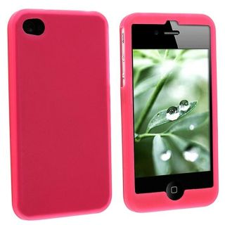 Hot Pink Silicone Case for Apple iPhone 4